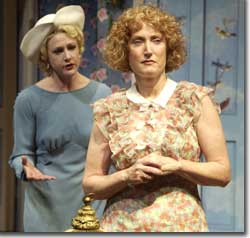 Photo of (L to R) Carol Halstead as Helena and Caitlin O'Connell as Dorothea