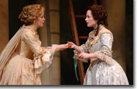 Photo of (L to R) Kate Gleason as the Princess of France and Morgan Hallett as Rosaline
