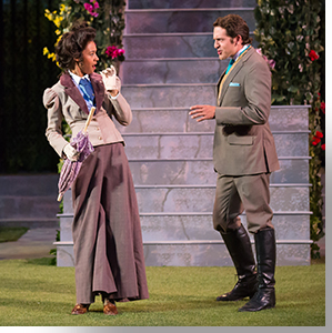 Brynn Tucker as Rosaline and Seth Dhonau as Berowne