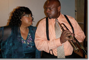 Wendelin Harston as Ma Rainey and Keith L. Hatten as Levee