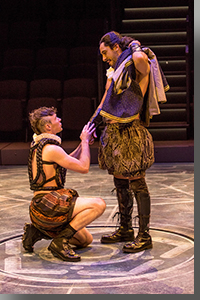 (Left to right) Alec Hynes as Banquo and Ariel Shafir as Macbeth