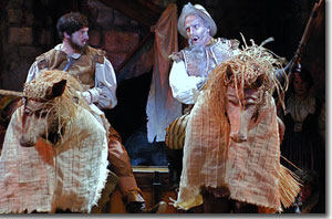 (Left to right) Ben Dicke as Sancho Panza and William Michals as Don Quixote