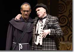 Photo of (L to R) John Hutton as Vincentio and Sam Gregory as Lucio