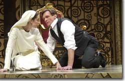 Photo of Ruth Eglsaer as Isabella and Brent Harris as Angelo