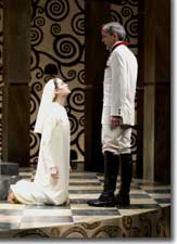 Photo of Ruth Eglsaer as Isabella and John Hutton as Vincentio