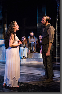 Karen Slack as Medea and Drew Horwitz as Jason