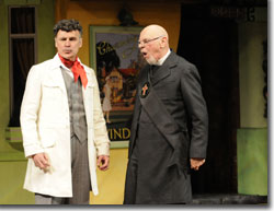 (Left to right) Michael Santo as Doctor Caius and Philip Pleasants as Sir Hugh Evans