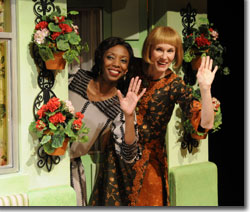 (Left to right) Sharon Washington as Mistress Page and Kathleen McCall as Mistress Ford