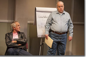 (Left to right) Sam Gregory as Ted Atkinson and Craig Bockhorn as Dwayne Dean