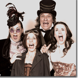 Joan Bruemmer as Mrs. Dumont, Meridith C. Grundei as Edwina, Verl Hite as Mr. Spacky, and Sonia Justl as Elizabeth