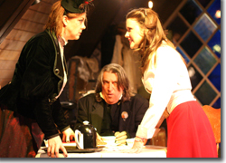 Joan Bruemmer as Mrs. Dumont, Verl Hite as Mr. Spacky, and Sonia Justl as Elizabeth