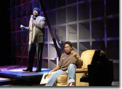 Photo of Gregory Porter as Gregory and Tyriq J. Swingler as Young Gregory