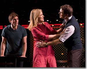 (Left to right) Curt Hansen as Gabe, Alice Ripley as Diana, and Asa Somers as Dan