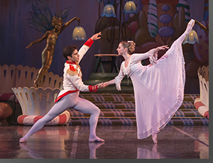 Ariel Breitman as the Nutcracker Prince and Emily Speed as Clara