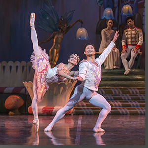 Sharon Wehner as the Sugarplum Fairy and Yosvani Ramos as her Cavalier
