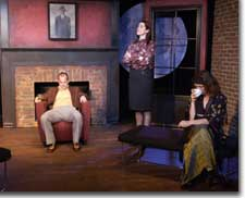 Photo of Kurt Brighton (Deeley), Denise Perry-Olson (Anna), and Mare Trevathan Philpott (Kate)