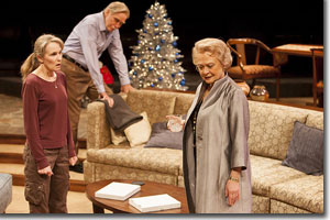 (Left to right) Kathleen McCall as Brooke Wyeth, Mike Hartman as Lyman Wyeth, and Lauren Klein as Polly Wyeth