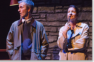 Tim McCracken as Anthony Reilly and Emily Paton Davies as Rosemary Muldoon