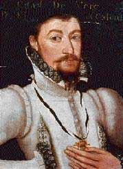 Photo of the Marcus Gheeraedts portrait of Edward de Vere, the 17th Earl of Oxford