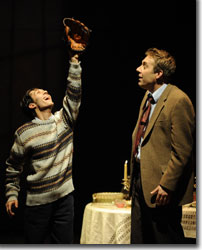 (Left to right) Michael Wartella as Owen Meany and David Ivers as John Wheelwright