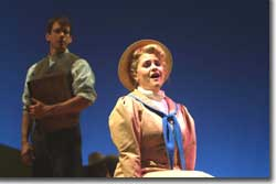 Photo of Alison Trainer as Tiny and John McVeigh as Johnny Inkslinger