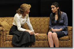 (Left to right) Kathleen McCall as Maggie Jones and Tiffany Ellen Solano as Victoria Roubideaux