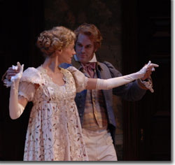 Brenda Withers as Jane Bennet and Steven Cole Hughes as Mr. Bingley