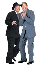Photo of Lewis J. Stadlen and Alan Ruck in the first national tour of The Producers, The New Mel Brooks Musical