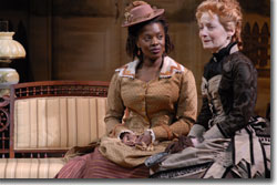 (L to R) Heather Alicia Simms as Caroline and Maureen Silliman as Mattie Johnson
