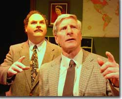 Photo of (left to right) Chuck Wigginton as St. John Quartermaine and Fred Lewis as Henry Windscape