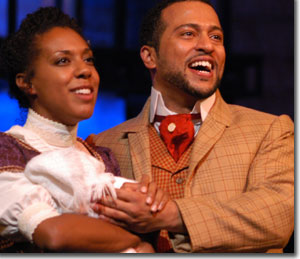 Christina Robinson as Sarah and Jamal Lee Harris as Coalhouse Walker, Jr.