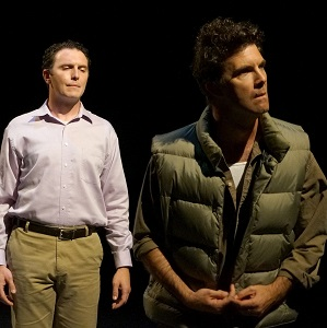 (Left to right) James O'Hagan Murphy as Mark Peyton and Josh Robinson as Andrew Read