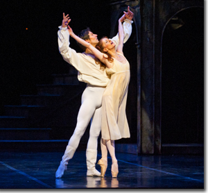 Alexei Tyukov as Romeo and Maria Mosina as Juliet