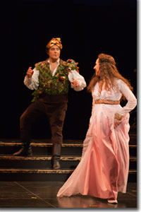 Giuseppe Varano as Romeo and Ava Pine as Juliet