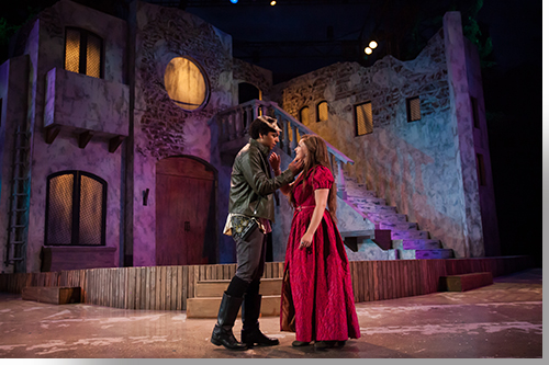 Dante Rossi as Romeo and Madison Hart as Juliet
