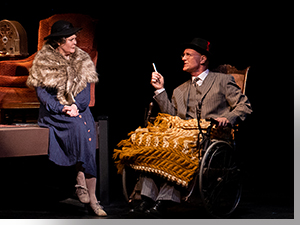 Sharon Kay White as Eleanor Roosevelt and Mark Rubald as Franklin Delano Roosevelt