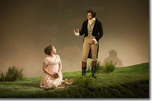 Mary Michael Patterson as Marianne and Jeremiah James as Mr. John Willoughby
