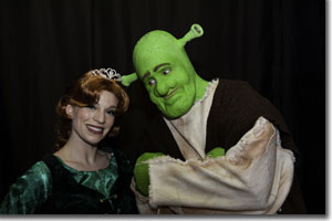 Norrell Moore as Fiona and Seth Caikowski as Shrek