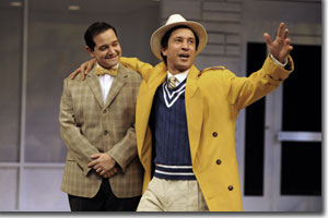 (Left to right) Matt Zambrano as Tranio and Drew Cortese as Lucentio