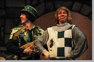 (Left to right) Barret Harper as Minstrel and Bob Hoppe as Sir Robin