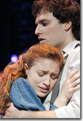 Christy Altomare as Wendla and Jake Epstein as Melchior