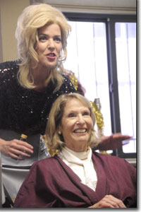 (Left to right) Rhonda Brown as Truvy and Patty Figel as Clairee