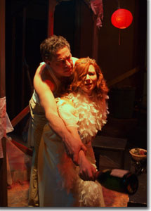 Thomas Borrillo as Stanley and Michelle Moore as Blanche