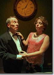 Terry Burnsed and Elizabeth Parks as Mr. and Mrs. Martin in The Bald Soprano
