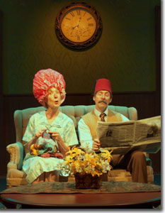 Lori Hansen and Leroy Leonard as Mrs. and Mr. Smith in The Bald Soprano