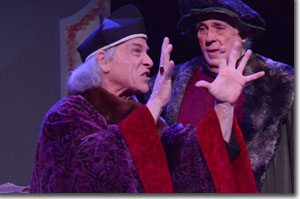 (Left to right) Bob Buckley as Bishop Johannes Dantiscus and Jim Hunt as Nicolaus Copernicus