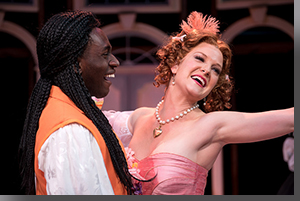 Anthony Adu as Valère and Emily Van Fleet as Mariane