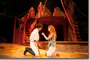 Benjamin Bonenfant as Ferdinand and Kyra Lindsay as Miranda