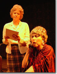 Laura Booze as Grace and Sallie Diamond as Cornelia in Something Unspoken