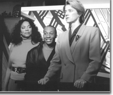 Photo of (L to R) Adrienne Martin-Fullwood (Dawn Towers), Quatis Tarkington (Frankie Powers), and Hilary Blair (Sharon Conway)